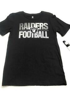New NFL Las Vegas Oakland Raiders Football Youth Boys' T-Shirt, Black, L. 14/16