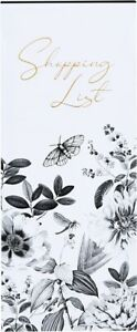 BOTANICAL ETCHINGS Floral Magnetic Shopping List Tear Off Pages Memo Pad