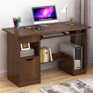 Corner Computer Desk with Shelves Drawer PC Laptop Table Home Office Small 100CM
