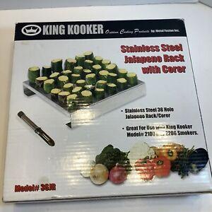 KING KOOKER STAINLESS STEEL JALAPENO RACK - MODEL 36JR - NEW IN BOX