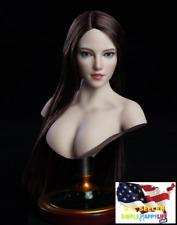 """1/6 Female Head Sculpt SDH018 C For TBLeague Phicen Pale 12"""" figure Poptoy ❶USA❶"""