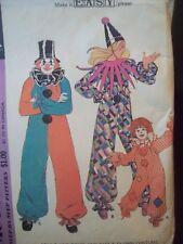 "Vintage McCalls Pattern 3353 Clown Costume Raglan Sleeves Size Small 32""-34"""