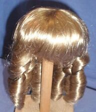 """Blond Glorex doll wig, 11"""" to 11.5"""", pageboy cut with ringlets, artificial hair"""