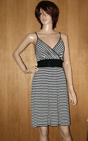 NEW EX C&A LADIES BLACK & WHITE SUMMER BEACH DRESS SIZE 8, 10, 12, 14, 16, 18