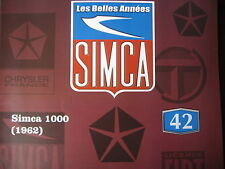 FASCICULE BOOKLET SIMCA  N°42 SIMCA 1000 / CONCOURS D'ELEGANCE