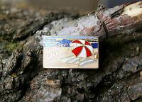 California Life's A Beach! Gold Tone Metal & Enamel Lapel Pin Pinback