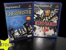 LOTTO STOCK 2 GIOCHI ARCADE CHESSMASTER ULTIMATE MIND GAME PS2 USATI ITA STOCK8