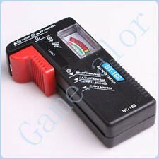 Free shipping Universal Battery Tester AA AAA C D 9V Button Checker#9917