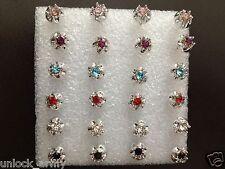 The Eye Swarovski Crystal bling Handmade Stud Earrings Mix Colors 6 Pairs A37