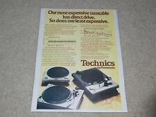 Technics Turntable Ad, 1974, SL-1200, SP-10, SL-1100, Article, 1 page