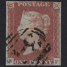 F13 GB QV 1841 1d RED-BROWN PLATE 67 SG8-B1(1) EF FU 4 MARGINS