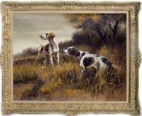 """Hand painted Old Master art Oil painting Animal Portrait dog on Canva 30""""X40"""""""
