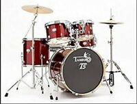 TAMBURO Schlagzeug T5 Serie Plus in red sparkle 20/10/12/14+SD+HW+Cymbals