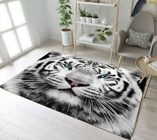 TOP QUALITY WOVEN RUGS 120CMX170CM 6FTX4FT GREAT TIGER BLACK//SILVER// BLUE EYES