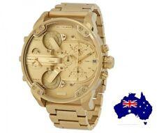 DIESEL DZ7399 MR DADDY 2.0 Gold Multiple Time Zone Chronograph Mens Wrist Watch