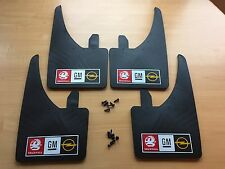 Vauxhall GM Opel Logo Sportflaps Mudflaps  + screws Nova Corsa - Set of 4