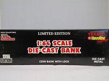 1996 Racing Champions Dale Jarrett Aeromax Transporter Coin Bank 1:64 scale