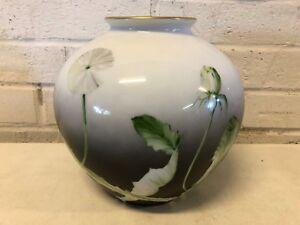 Vinatage Rosenthal Porcelain Pot with Gold Trim Floral Dandelion Decorations