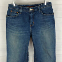 Eddie Bauer Premium womens size 8 short natural fit blue med wash straight jeans