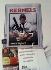 New listing Mike Trout 2010 Autographed Cedar Rapids Kernals JSA RC