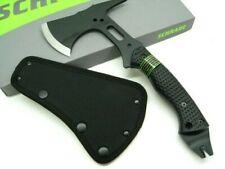 Schrade Scaxe5 Black Sk5 Tactical Hatchet Survival Axe Nail Pull Pry + Sheath