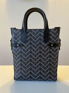 Valore London Gigi Tote Black Leather Monogram goyard bag made in italy RP£1190