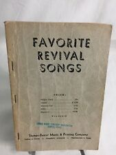 Favorite Revival Songs ~ Religious Hymn book ~ Stamps Baxter