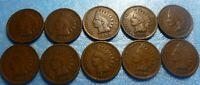 10 Coin  Indian Head Penny Cent Collection  1900 to 1909  #0009