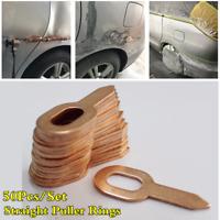 50Pcs Car Body Panel Repair Straight Dent Puller Rings Spot Welder Accessories