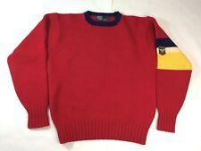 Vintage Polo Ralph Lauren Wool Stadium Sweater Uni Crest Colorblock Size Medium