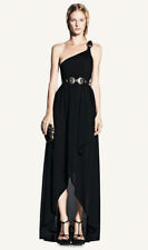 Alexander McQueen Spring 2011 Black One Shoulder Dress Size XS
