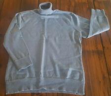 GAP Merino Wool Turtleneck Sweater Gray Women's Large Wool Turtleneck