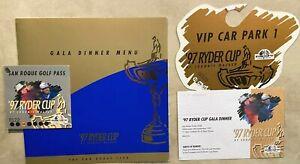 RYDER CUP - 1997 - Dinner Menu, Tickets, Etc.