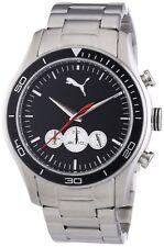 Puma Time Men's Quartz Watch Ride Chrono Metal- L Silver PU1025810... USA SELLER