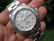 RARE! Invicta Aussie Automatic Men's Day Date Mother of Pearl Dive Watch! 4346 ✅
