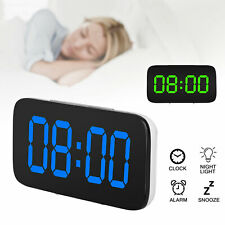 Alarm Clock Large Digital LED Display USB/Battery Operated Sound Control Bedroom