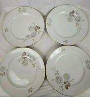 Johann Haviland Bavaria Germany Set Of 4 Sweetheart Rose Plates 10.25 Inches