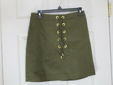 AUTHENTIC MICHAEL KORS LACE UP SKIRT NWT SIZE 10 MSRP $140.00