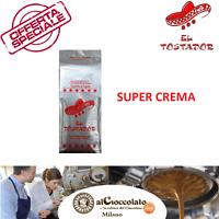 3 KG CAFFE' IN GRANI SUPER CREMA CAFFè EL TOSTADOR TOSTATO A LEGNA + OMAGGIO