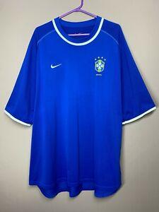 Brazil Brasil 2000-02 Vintage Away Football Shirt Soccer Jersey size XXL