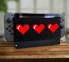 Retro 8bit Pixel Heart Dock Sock Soft Plush Screen Protector Cover Video Game