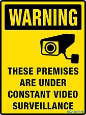 WARNING PREMISES UNDER VIDEO SURVEILLANCE SIGN - VARIOUS SIGN & STICKER OPTIONS