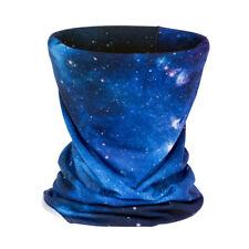 3D Galaxy Blue Headband Cycling Multi Functional Seamless Magic Face Mask Scarf