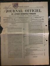 1924 Goree Senegal Official Newspaper Cover French Occidental Africa