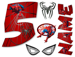 SPIDER MAN INSPIRED NAME AND NUMBER PERSONALISED CAKE EDIBLE ICING TOPPER