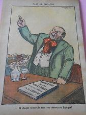 Humour Politique Pays de Cocagne Chateau en Espagne dessin Print 1936