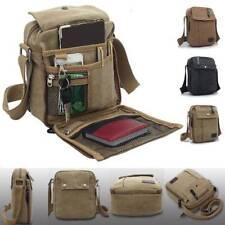 Men's Vintage Canvas Leather Satchel School Military Shoulder Bag Messenger Bags