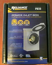 New listing Reliance Controls Pb30 30 Amp Nema 3R Power Inlet Box for Generators Up to 8 00…