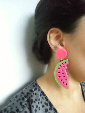 Boucles d'oreilles originales quart pastèque watermelon harajuku kawaii kitsch