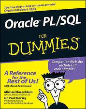 Oracle Pl/SQL for Dummies by Paul Dorsey, Michael Rosenblum (Paperback, 2006)